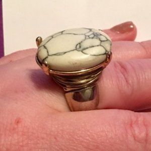 4/$15 Charming Charlie Marbled Statement Ring